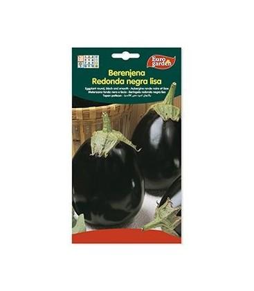 Semillas de Berenjena Redonda Negra Lisa 3 g de Eurogarden