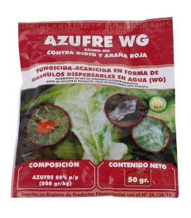 Azufre, fungicida-acaricida ecológico 50 gr de Masso