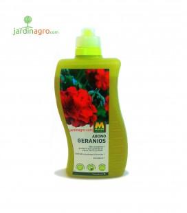 Abono líquido geranios 1 L Masso Garden.